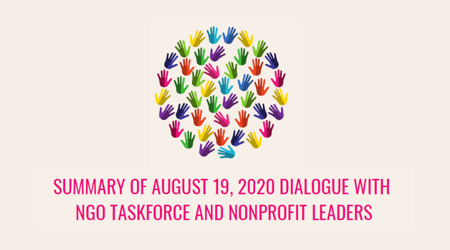 Open Dialogue with NGO Taskforce and Nonprofit Leaders